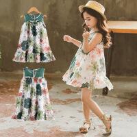 儿童夏装女童裙子复古背心裙中小童连衣裙透气童裙公主裙