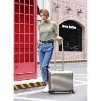 电脑登机箱18寸全铝镁合金拉杆箱金属密码旅行箱男小商务行李箱子 18寸全铝镁合金升级版
