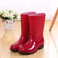 女士雨鞋中筒雨鞋套雨靴防滑女式水鞋高筒胶鞋