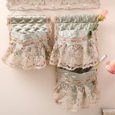 加厚门后收纳袋储物挂袋墙上布艺挂袋卧室客厅杂物整理袋  十里桃花 挂袋