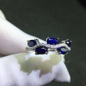 6天然蓝宝石戒指,蓝宝石四大宝石之一