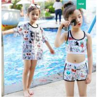 儿童泳衣女运动分体游泳衣套装女童可爱女孩中大童ins女童泳衣