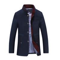 秋季男式毛呢风衣 商务男士外套呢子风衣男装羊毛呢大衣