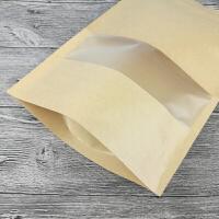 牛皮纸茶叶包装袋通用半斤一斤装绿茶大号密封袋250g红茶自封口袋