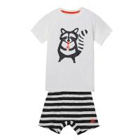 adidas阿迪达斯童装运动服男婴童短袖套装BK3008