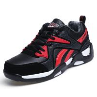 秋季运动鞋男士休闲鞋子男板鞋韩版情侣鞋2016新款潮流男生跑步鞋SL-808 黑红加绒款 43