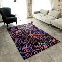 现代美式客厅地毯 沙发茶几房间卧室床边地垫样板间 薄款易打理