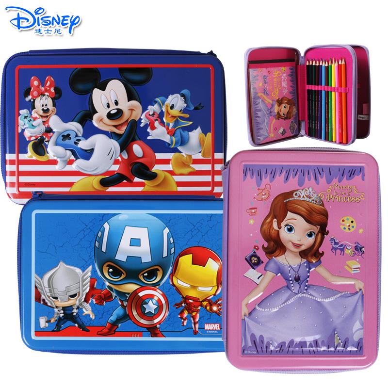 迪士尼儿童画画套装小学生绘画彩铅水彩笔礼盒美术工具学习用品