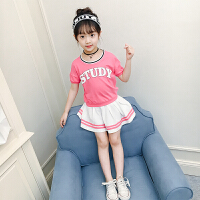 女童夏季套装2018新款韩版时尚两件套中小儿童女孩裙套时髦洋气二