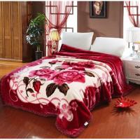 家纺2017秋冬季新款棉被子毛毯加厚双层冬季珊瑚绒盖毯单双人婚庆绒毯子床上用品