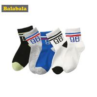 巴拉巴拉儿童袜子 中大童长筒袜秋季男女童学生棉袜运动袜五双装