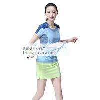 羽毛球服女款套装 短袖运动透气速干运动服 训练网球服