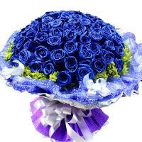 ????520情人节鲜花速递 99朵红玫瑰花 求婚表白结婚纪念日生日礼物 喜迎国庆