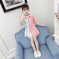 女童连衣裙夏装儿童公主裙大童装小女孩雪纺裙子