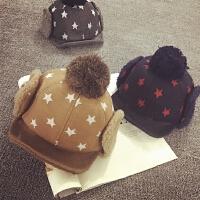 宝宝帽子秋冬1-2岁护耳雷锋帽棒球帽加绒保暖鸭舌帽男女儿童帽子