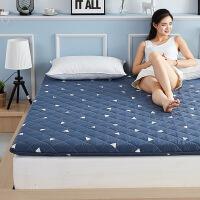 羊毛垫子床垫褥子全棉加厚保暖榻榻米防滑床褥垫被1.5米1.8m床 三角世界(保暖 透气)
