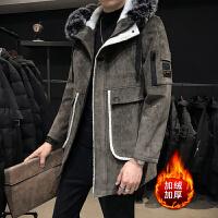 呢子大衣男冬季韩版英伦风中长款大衣潮流帅气风衣加厚男士外套潮