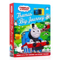 小火车托马斯轨道车书玩具书纸板书 英文原版Thomas & Friends Thomas' Big Journey 儿