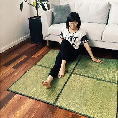 出口日本 榻榻米地垫绿格子地垫草席垫草垫地铺 折叠收纳 图片款 绿色格子