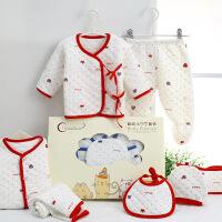 秀贝星 秋冬新生儿加厚保暖初生宝宝纯棉衣服0-3个月婴幼儿礼盒套装