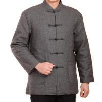 男士休闲中式立领棉衣薄棉外套户外新款中老年男士简约大气长袖唐装爸爸装