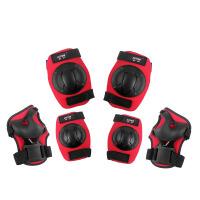 动感护具儿童溜冰鞋护掌护膝护肘加厚男女护具6件套装轮滑护具326 红色 S
