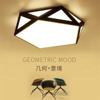 LED吸顶灯简约现代客厅灯个性创意几何书房餐厅温馨房间主卧室灯