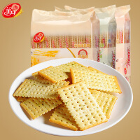 美丹苏打饼干 白苏达饼干 450g 无糖梳打零食 健康饼干  鲜葱味 芝麻味 燕麦味 黑米味