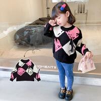 女童毛衣2020新款洋气中小童儿童线衣秋冬韩版套头加厚打底针织衫