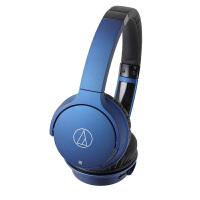 【当当自营】铁三角(Audio-technica)ATH-AR3BT 无线蓝牙头戴式耳机 蓝色 轻便便携 时尚耳机