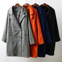 X4呢子大衣女冬装新款 韩版加厚 中长款 过膝显瘦毛呢外套1.1
