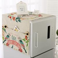 棉麻冰箱罩巾洗衣机盖布盖巾冰箱防尘罩