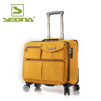 sedna 赛德纳16寸商务电脑拉杆箱旅行箱包登机箱行李箱子防水棉纶SDN645D