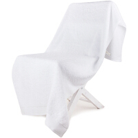 [当当自营]三利 A类加厚长绒棉 雪白色 缎边大浴巾 纯棉吸水 柔软舒适 带挂绳 婴儿可用