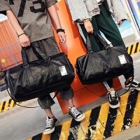 短途旅行包男出差手提包女大容量旅游包简约行李包袋防水健身包潮 黑色