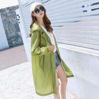 优雅韩版时尚纯色气质中长款长袖简约年夏季短外套