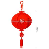 新年装饰用品无纺布福字宫灯春节场景室外大红结婚节日手工小灯笼 加厚 大号灯笼直径36CM