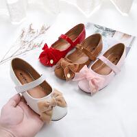 女童小皮鞋2020公主鞋女春秋儿童软底单鞋外穿舞蹈皮鞋