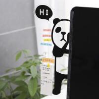 韩国文具 可爱电脑屏幕显示器侧边留言板.透明便利贴板.便签贴板