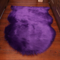 仿羊毛客厅地毯白色卧室床边地垫茶几毯飘窗垫橱窗装饰摄影 4P 自然形200*180