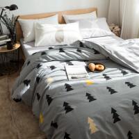 床上四件套棉 2.0m床双人简约被套棉宿舍单人床单三件套1.2m