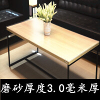 软玻璃透明加厚5mm餐桌垫磨砂防烫防水pvc圆桌布塑料水晶板茶几垫