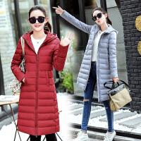 冬装新品棉衣女中长款2017韩版修身显瘦棉服时尚连帽保暖棉袄外套