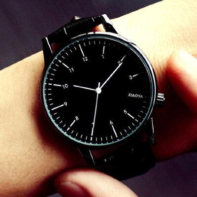 手表女士学生韩版时尚潮流防水简约夜光男表皮带女表情侣手表一对 2种设计 多种选择