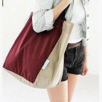 大容量可折叠便携购物袋市购物包袋帆布单肩女包手提袋家居家纺收纳用品收纳袋收纳包 横向大号