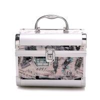 小铝合金化妆包专业带锁铝合金手提化妆箱收纳大容量化妆盒便携小号化妆包带锁