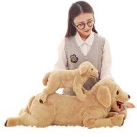 可爱黄狗趴趴狗狗毛绒玩具单身狗睡觉抱枕抱抱熊送女生礼物 黄色大黄狗 大号