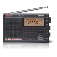 德生(Tecsun) PL-680全波段 老年人数字调谐短波二次变频充电式半导体收音机 黑色