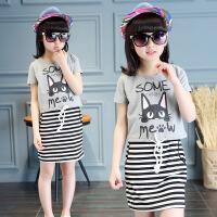 儿童套装裙子小女孩夏季两件套中大童连衣裙童装女童夏装