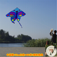 蝴蝶风筝线轮 3米2.2米大黑蝶大型红黄蓝紫